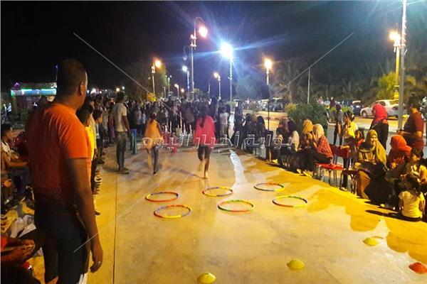 ألعاب ترفيهية للاحتفال بالعيد مع أهالي الوادي الجديد