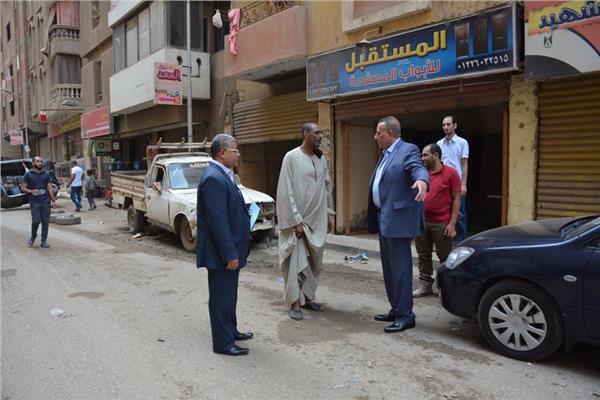 محافظ الجيزة يتفقد أعمال رفع كفاءة الشوارع في جولة مفاجئة