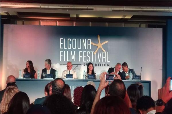 وزيرة السياحة رانيا المشاط في مؤتمر الجونة السينمائي