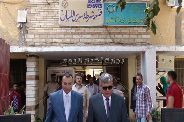 مساعد الوزير ومدير أمن المنوفية في جولة على المواقع الشرطية