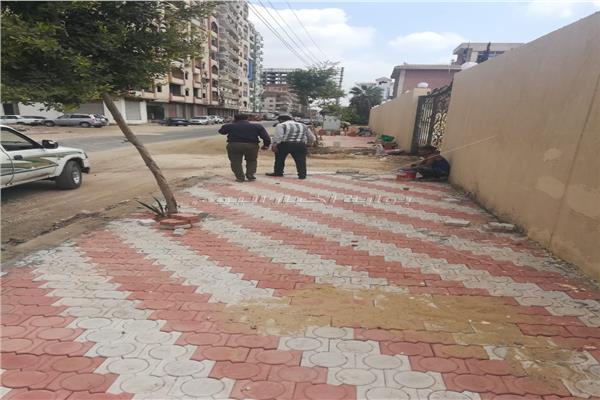 استمرار أعمال تطوير وتجميل شوارع وميادين المنوفية
