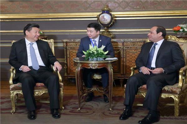 الرئيس السيسي ونظيره الصيني - أرشيفية