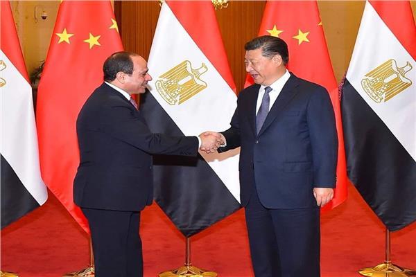 """الرئيس عبد الفتاح السيسي مع  الرئيس الصيني """"شي جين بينج"""""""