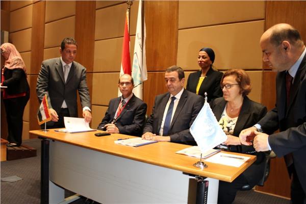 وزيرة البيئة تشهد توقيع  اطلاق مشروع تعزيز القدرات الوطنية مع برنامج الأمم المتحدة الانمائي
