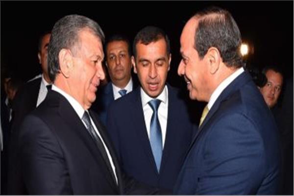 الرئيس السيسي ونظيره الأوزبكستاني