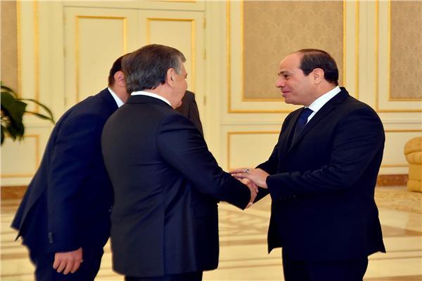 الرئيسان المصري والأوزبكي