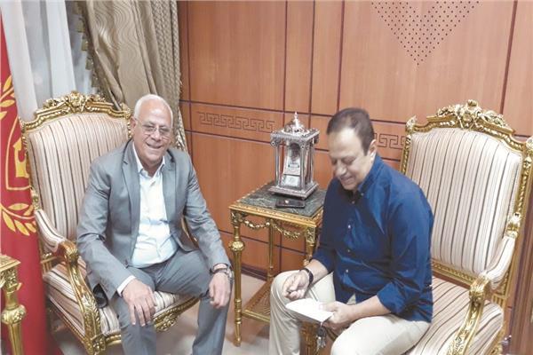 محافظ بورسعيد يتحدث لبوابة أخبار اليوم