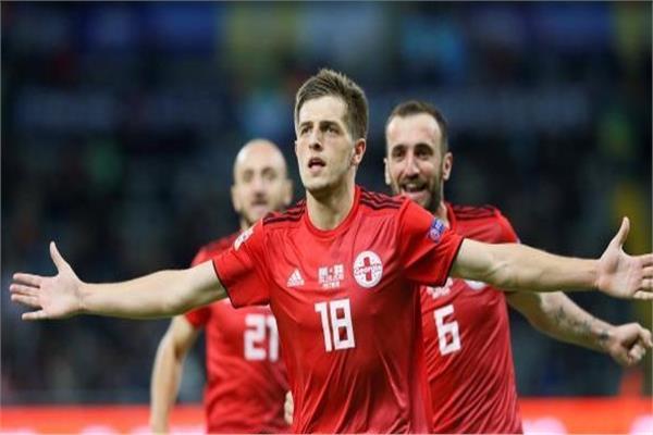 فرحة لاعبي جورجيا بالفوز