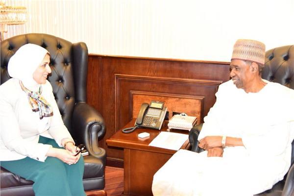 وزيرة الصحة تستقبل سفير نيجيريا