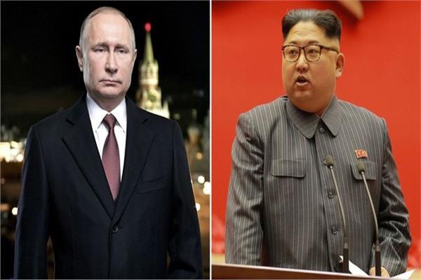 كيم جونج أون وفلاديمير بوتين