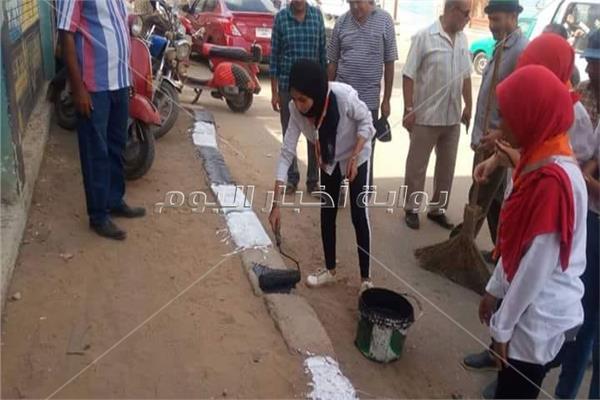 فتيات كشافة المحلة يدشنون مبادرة لتنظيف المدارس قبل بداية العام الدراسي