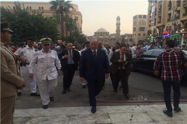 أثناء وصول محافظ القاهرة