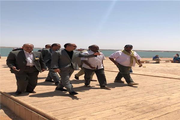الفريق يونس المصرى يتفقد مطاري أبو سمبل وأسوان الدولي
