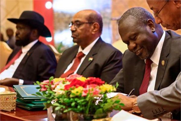 رئيس جنوب السودان وزعيم المتمردين