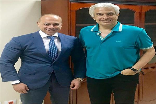 وائل الإبراشي مع تامر مرسي رئيس مجلس إدارة إعلام المصريين