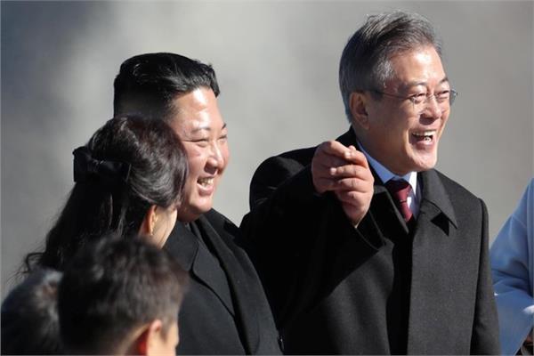 رئيسا كوريا الشمالية والجنوبية