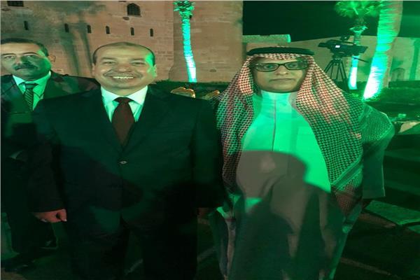 قنصل المملكة السعودية يوسف بن صالح ووكيل وزارة السياحة مجدي شلبي