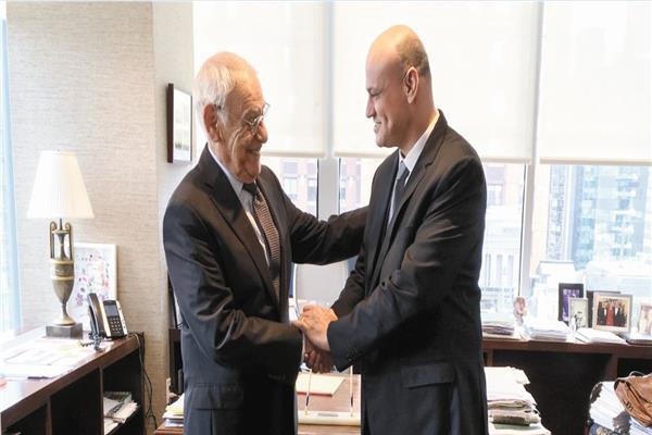 الأستاذ خالد ميري مع رئيس الصندوق المصري الأمريكي