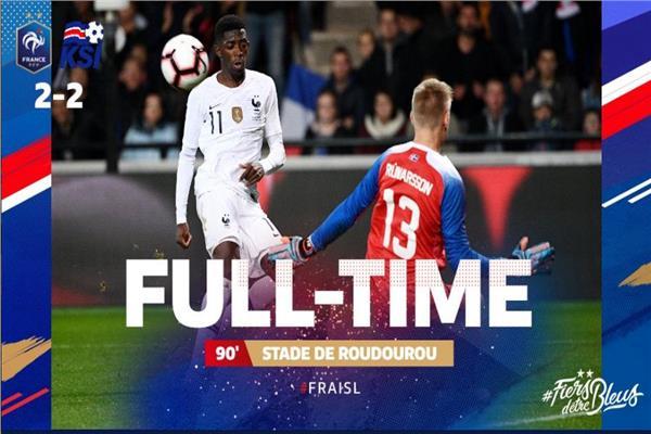 جانب من مباراة فرنسا وآيسلندا