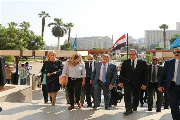 رئيس جمهورية تتارستان يزور المتحف المصري بالتحرير