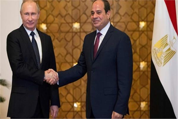 الرئيس عبد الفتاح السيسي ونظيره الروسي فلاديمير بوتين