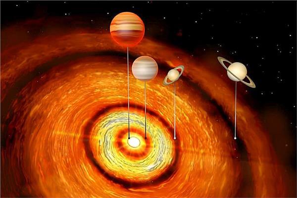 اكتشاف نظام كوكبي شاب مع أربعة عمالقة غازية