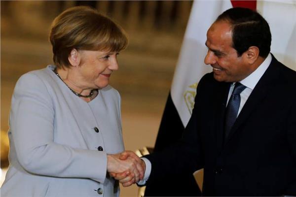 الرئيس عبد الفتاح السيسي و المستشارة الألمانية أنجيلا ميركل