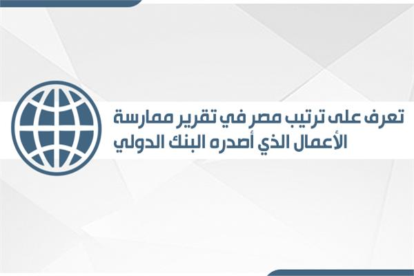 إنفوجراف  تعرف على ترتيب مصر في تقرير ممارسة الأعمال الذي أصدره البنك الدولي