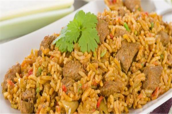 أرز بريانى باللحم
