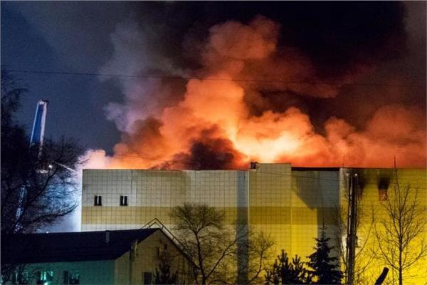 إخماد حريق في مصفاة لتكرير النفط بموسكو