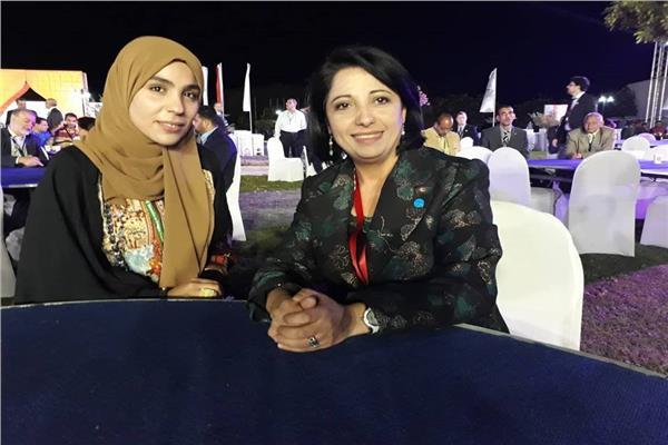 وزيرة البيئة الجزائرية ومحررة بوابة أخبار اليوم