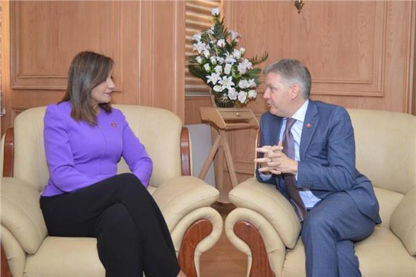 نبيلة مكرم وزيرة الدولة الهجرة