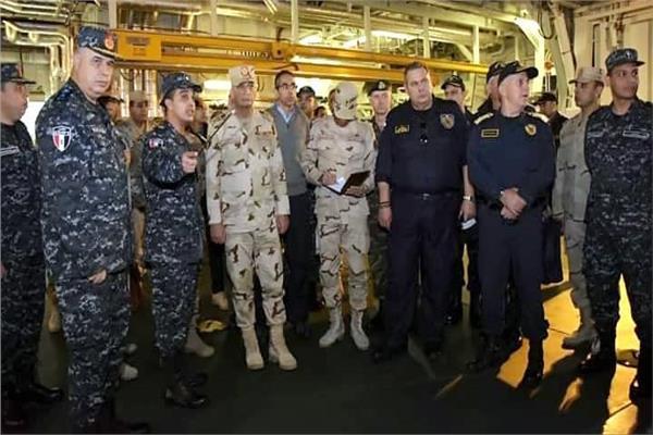 وزراء دفاع مصر وقبرص واليونان يشهدون المرحلة الرئيسية للتدريب «ميدوزا 7»