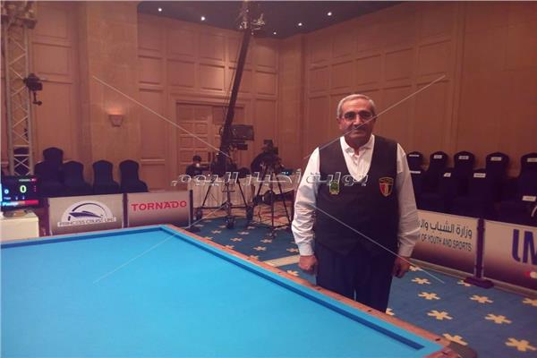 محسن فودة في بطولة العالم للبليارد بالغردقة