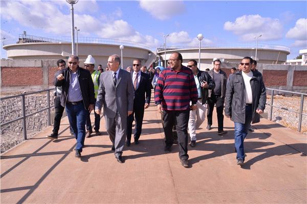 محافظ أسيوط اللواء جمال نور الدين يتفقد المحطة بشلش