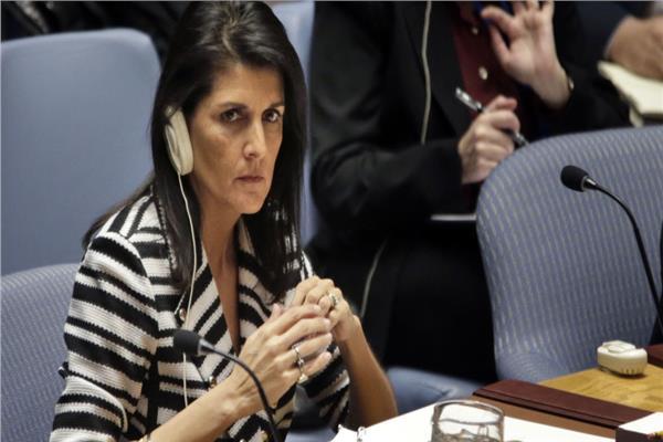 مندوبة الولايات المتحدة الأمريكية لدى الأمم المتحدة نيكي هيلي