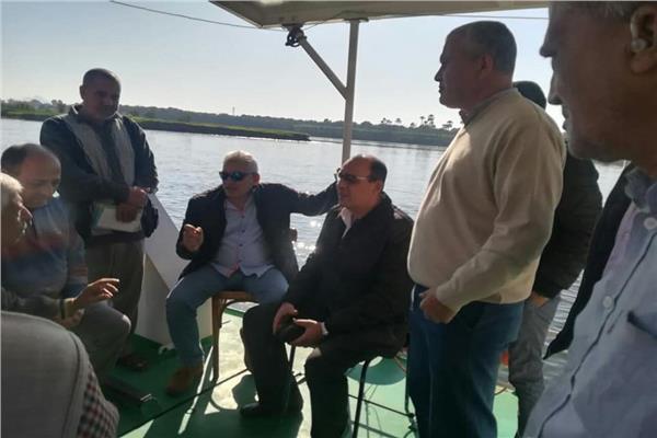 أول جولة ميدانية لرئيس هيئة النقل النهري الجديد
