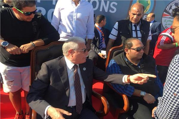 خالد فودة محافظ جنوب سيناء وخالد لطيف عضو الجبلاية
