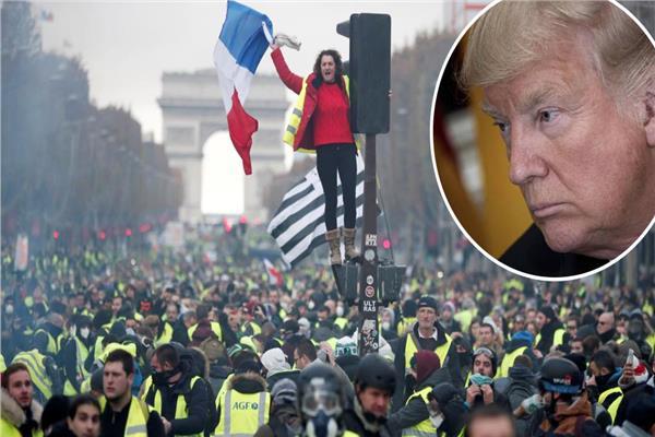 ترامب استغل احتجاجات فرنسا للمطالبة بإلغاء اتفاقية المناخ