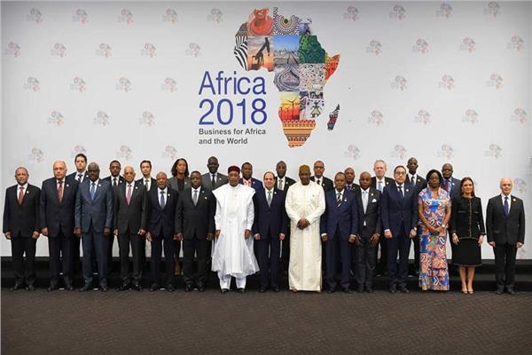 الرئيس السيسي مع الزعماء والرؤساء الأفارقة