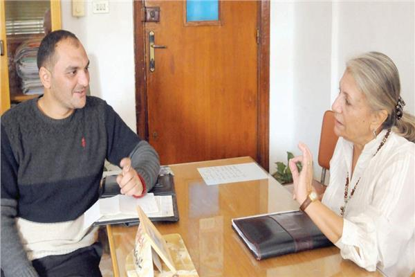 د. شادية قناوى خلال حوارها مع «الأخبار»