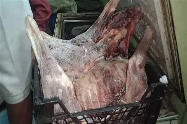صورة من اللحوم المضبوطة