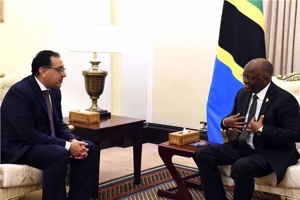 الرئيس التنزاني يستقبل د.مصطفى مدبولي