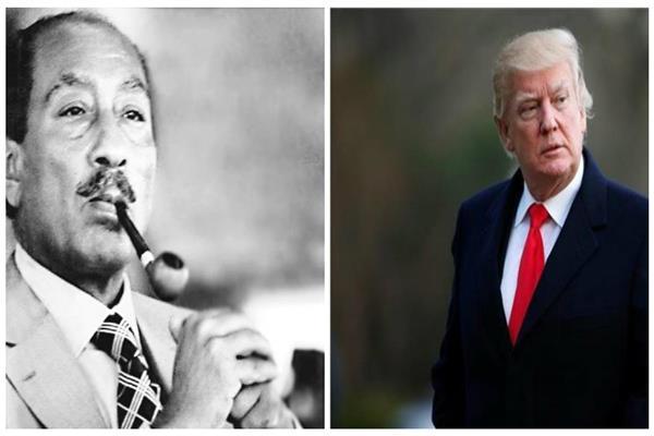 ترامب والرئيس السادات - صورة مجمعة
