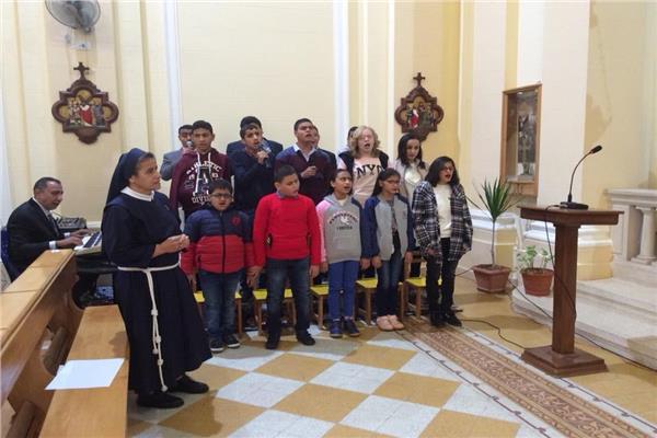 الكنيسة الكاثوليكية بمصر تحتفل بعيد القديسة لوتشيا