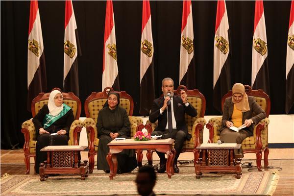 «قومي المرأة» ينظم لقاءً بجامعة المنيا خلال «معا في خدمة الوطن»