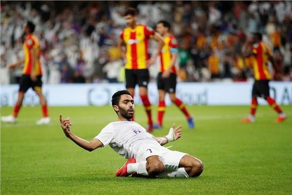 لحظة احتفال حسين الشحات بهدفه في الترجي