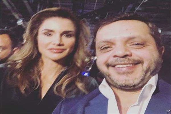 هنيدي والملكة رانيا