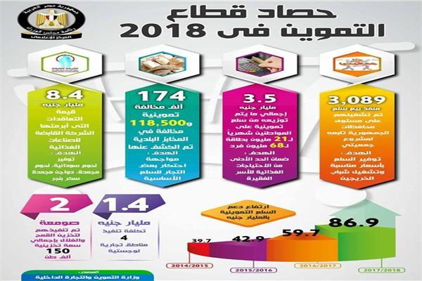 بالأرقام..إنجازات وزارة التموين في ٢٠١٨