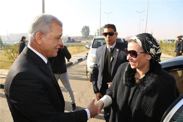 محافظ المنوفيه يستقبل وزيرة البيئة